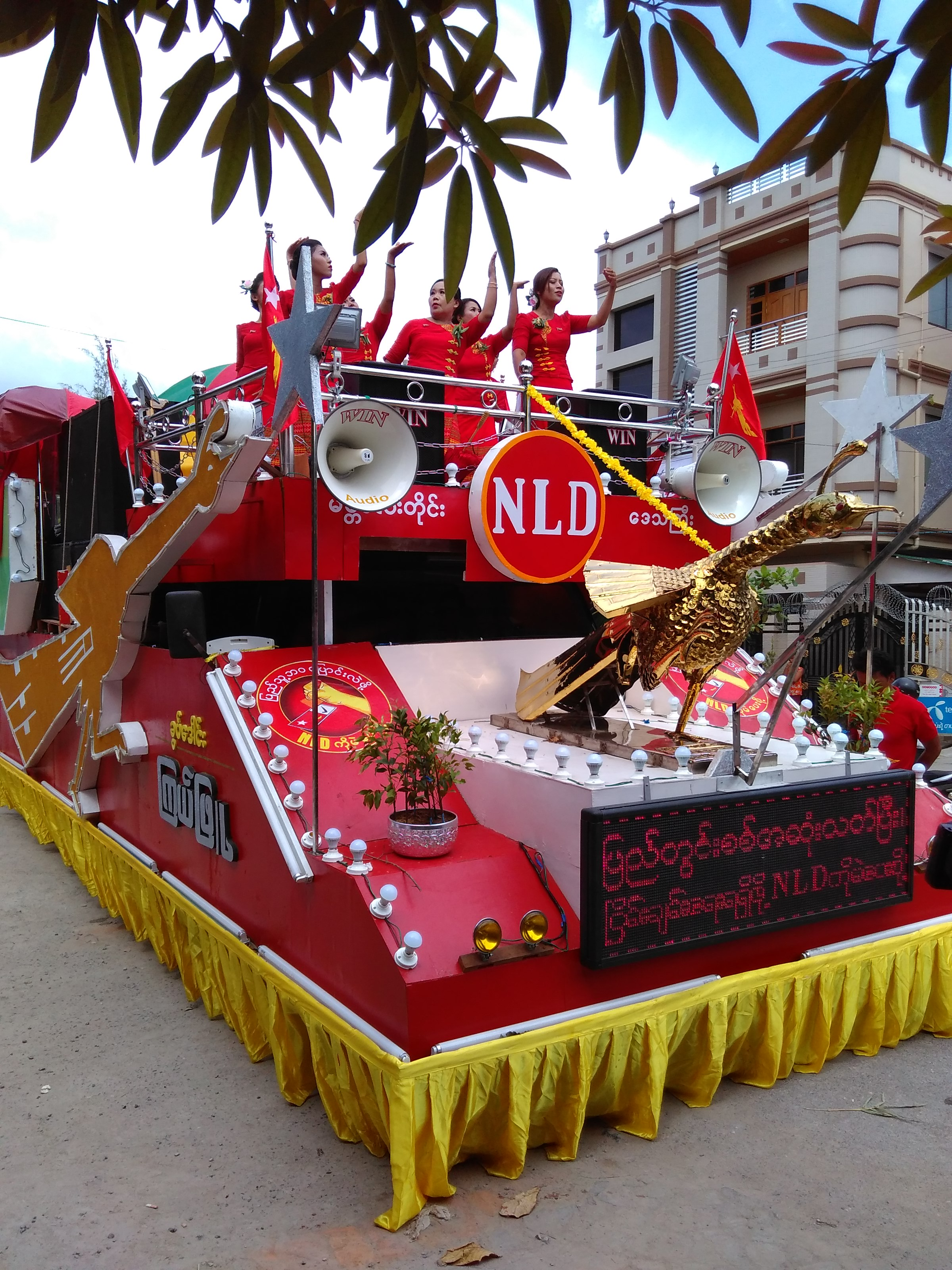 Campaigning begins, in Mandalay, two months before the November election