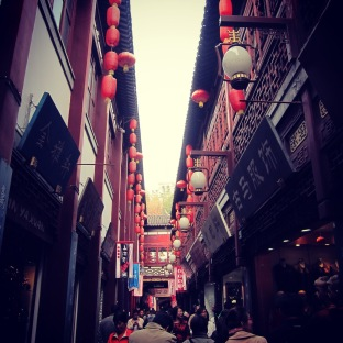 Traditional buildings in the streets of Shanghai, China, Nov 2014 © Cas Sutherland