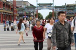 Pedestrians in Qianmen, Beijing, Sept 2014 © Cas Sutherland