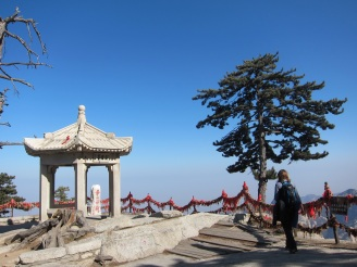 Blue skies above the pollution line, Huashan, China, Jan 2015 © Cas Sutherland
