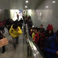 Commuters from Beijing, Langfang, Hubei, China, Oct 2015 © Cas Sutherland