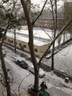 Snow covers the primary school, Haidian, Beijing, Nov 2015 © Cas Sutherland