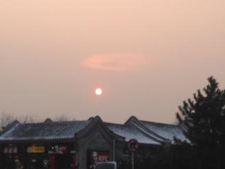 Wintry sun over Beijing's hutongs, Nov 2015 © Cas Sutherland
