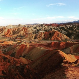 Rainbow rocks at Zhangye, Gansu, China, Aug 2015 © Cas Sutherland