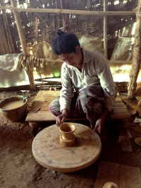 Rural woman potter in Shan State, Burma (Myanmar), © Cas Sutherland