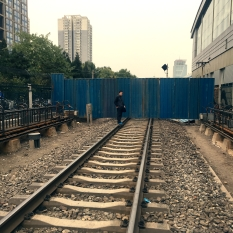 Rails but no trains. Wudaokou, Beijing, 6th November 2016 © Cas Sutherland