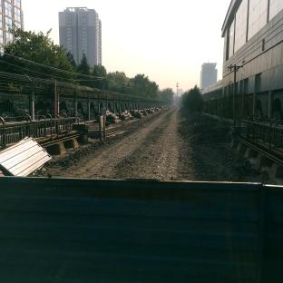 Rails dismantled, Wudaokou, Beijijng, 12th November 2016 © Cas Sutherland