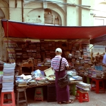 Open air bookstores abound in downtown Yangon, Myanmar, Feb 2016 © Cas Sutherland