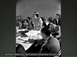 Bertha Lutz, San Francisco Conference, 15 June 1945