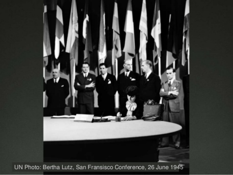 Bertha Lutz, San Francisco Conference, 26 June 1945 (1)