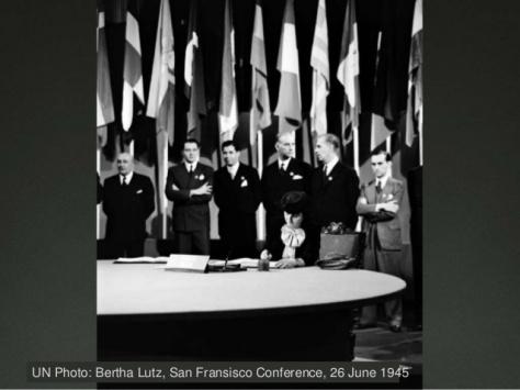 Bertha Lutz, San Francisco Conference, 26 June 1945 (1)