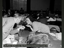 Bertha Lutz, San Francisco Conference, 6 June 1945