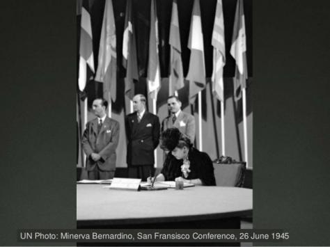 Minerva Bernardino, San Francisco Conference, 26 June 1945